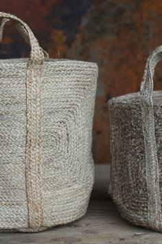 This beautifully braided hemp storage basket will add bohemian character to any living space. Lined Wicker Baskets, Wicker Baskets With Handles, Rattan Basket, Storage Baskets With Lids, Bohemian Decor, Tao, Hemp, Weave, Reusable Tote Bags