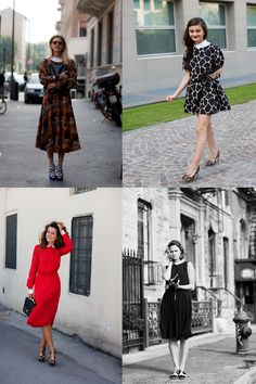 The Sartorialist recommends white-collared dresses. The red one is my favourite.