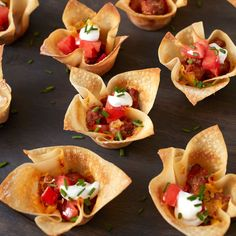 Your sports fans are sure to love when you make these Game On Mini Taco Cups