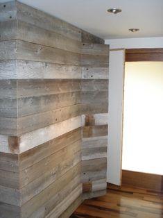 PMI STUDIOS: Entryway wall built with reclaimed barn wood--- Erickson this is pretty cool too! Hidden Closet, Loft Furniture, Furniture Design, Entryway Wall, Build Your Dream Home, Reclaimed Barn Wood, Hidden Storage, Custom Cabinetry, Rustic Elegance