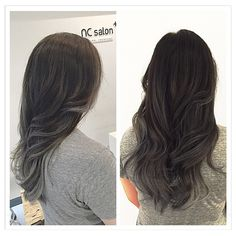 Super cool tone grey#balayage #ombre