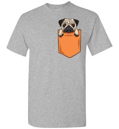 Now available: Pug Pocket Tee. Check it out here! http://www.southofmemphis.com/products/pug-pocket-tee?utm_campaign=social_autopilot&utm_source=pin&utm_medium=pin