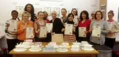 Love this pic of students, their certificates and creations from Hertfordshire School Of Cake Decorating