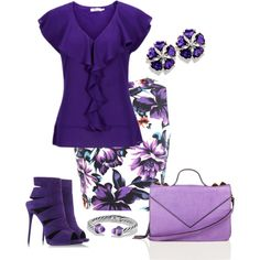38 Popular Purple Outfit Ideas For Summer Work Fashion, Fashion Looks, Fashion Design, Fashion Trends, Purple Outfits, Spring Outfits, Classy Outfits, Chic Outfits, Look Street Style