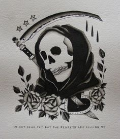american traditional grim reaper tattoo - Google Search
