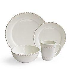 Bianca Bead Round 16 Piece Dinnerware Set - traditional - dinnerware - by Jay Import Square Dinnerware Set, White Dinnerware, Dinnerware Sets, Porcelain Dinnerware, Traditional Dinnerware, Dinner Sets, The Ranch, Joss And Main, Boutique