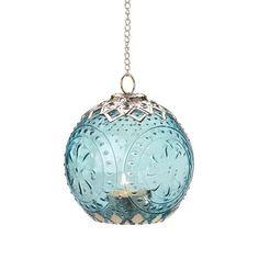 Small Aquamarine Globe Lantern. Starting at $7 on Tophatter.com!