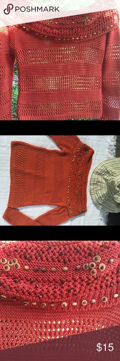 Crochet top Homemade, absolutely adorable in good condition Tank top is very modern and comfortable. Tops Tank Tops