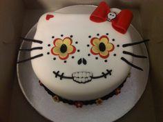 Hello Kitty Sugar Skull Cake
