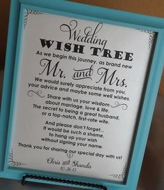 Wedding Wish Tree Please leave your advice for the new Mr and Mrs Sign, Wedding Sign to Mr and Mrs, Leave Your Advice and well wishes on Etsy, $10.95