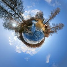 HDR tiny planet showing frozen lake ~ HDR photographer