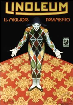 Leonetto Cappiello Linoleum painting - Linoleum print for sale