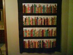 Bookshelf quilt by diannemc from the quilitngboard.com