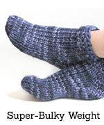 Click to go to the super-bulky-weight toe-up sock pattern