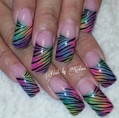 Acrylic nails by Kristina...I like these but if I got them they would be shortened down quite a ways