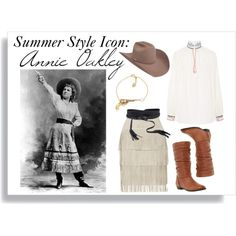 Summer Style Icon: Annie Oakley by cowgirlmagazine on Polyvore featuring polyvore, fashion, style, Vilshenko, Illia, Dune, Schield Collection and B-Low the Belt