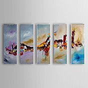 Pintado a mano óleo abstracta Set de 5 1307-A... – EUR € 107.24