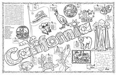 California Seal Coloring Page | California Symbols & Facts FunSheet – Pack of 30