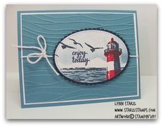 Tide stamp set, Theme Week - Summertime Blues (Stamping with Lynn) High Tide stamp set, Theme Week - Summertime BluesHigh Tide stamp set, Theme Week - Summertime Blues Masculine Birthday Cards, Birthday Cards For Men, Masculine Cards, Male Birthday, High Tide Stampin Up, Nautical Cards, Nautical Theme, Boy Cards, Men's Cards