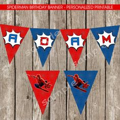 Spiderman Happy Birthday Banner Amazing by LittleMsShutterbug