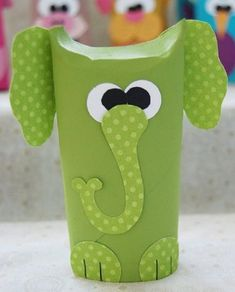 Learn how to make adorable toilet tube animals in this fun craft using recycled cardboard tubes. Toilet Paper Roll Diy, Toilet Roll Craft, Toilet Paper Roll Crafts, Art Activities For Kids, Art For Kids, Toilet Tube, Crafts To Make, Crafts For Kids, Elephant Crafts