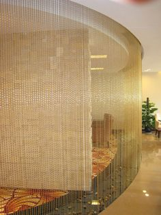 Bead chain curtain for interior decoration