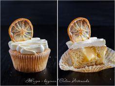 """Капкейк """"Творог-лимон"""": творожный кекс, лимонный курд внутри, белково-масляный крем с лимоном    """"Жизнь - вкусная!"""": кулинарный блог Галины Артеменко; Praline - домашняя кондитерская студия"""