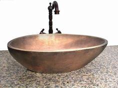 Handfat - koppar och brons