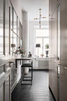 Furniture, Interior, Home, Table, Wall, Kitchen, Room Divider, White Walls, Interior Design