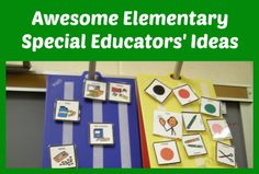 This is a Pinterest board for collecting ideas for elementary special education teachers. @Christine Reeve-Autism Classroom News