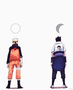 Naruto is lightness like sun while Sasuke is darkness like moon in night. Together complement themselves