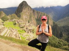 Misty showing off her Tree pose at Machu, Picchu Peru Love it.....There go I again.