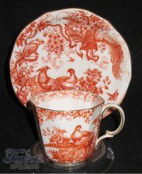 Royal Crown Derby Red Aves Antique Demitasse Cup