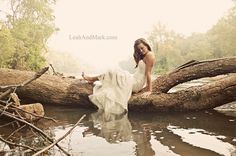 If you can find a girl willing to get her wedding dress a little dirty, this makes a great photo! #photography #weddingphotography