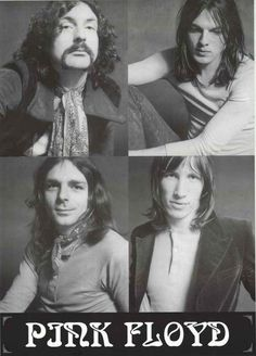 "An awesome Pink Floyd poster - Roger Waters, David Gilmour, Rick Wright, and Nick Mason! Ships fast. 24x33 inches. Take some ""Time"" to check out the rest of our amazing selection of Pink Floyd posters"