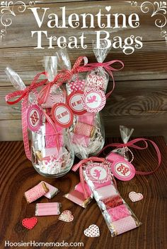 Easy Valentine Treat Bags. they are really easy and with the exception of possibly 2 supplies, I bet you have everything else in your crafting stash.