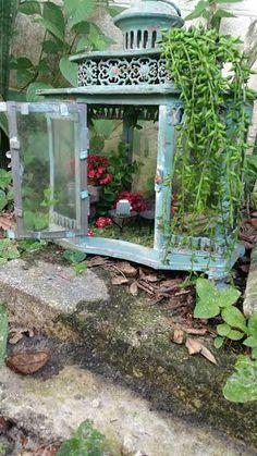 Garden Lantern Fairy House