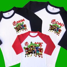 Avengers #Birthday Raglan Shirts Set. #Personalized #Family #Birthday Shirts. Base,  View more on the LINK: 	http://www.zeppy.io/product/gb/3/249580448/