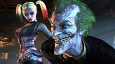 Super sweet pic of Joker and Harley Quinn from the new Arkham City vid game