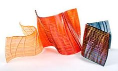 """""""Autumn Flow #7"""" Art Glass Sculpture by Nina Falk - Finalist in Glass at the 2012 NICHE awards, announced at the Buyers Market of American Crafts."""