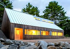 Minimalist timber-clad cabin in Nova Scotia is filled with natural light   Inhabitat - Green Design, Innovation, Architecture, Green Building