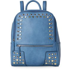 Danielle Nicole Light Blue Rooney Backpack (52 AUD) ❤ liked on Polyvore featuring bags, backpacks, blue, genuine leather backpack, blue leather backpack, leather backpack, faux-leather backpack and leather bags
