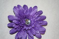 Purple Flower Hair Clip by MariasBowTique on Etsy, $2.50