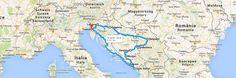 Le tappe per un itinerario on the road nei Balcani: andata e ritorno da Trieste passando per Lubiana, Zagabria, Belgrado, Sarajevo, Sveti Stefan e Dubrovnik