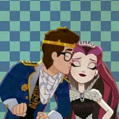 Raven queen and dexter charming kiss