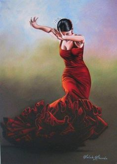 Two more flamenco paintings Des Femmes D Gitanes, Art Triste, Spanish Dancer, Dance Paintings, Dance Poses, Dance Photography, Female Art, Watercolor Art, Art Drawings