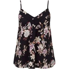 Petites Floral Lace Cami Top (805 HNL) ❤ liked on Polyvore featuring tops, tanks, shirts, lace top, lace camisole, camisole tops, lace tank top and petite tops