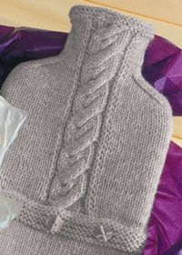 Hot water bottle cover, Free pattern!