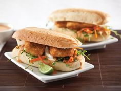 Fried tofu sandwich! If only this recipe didn't have a billion ingredients, I would totally make it tonight.