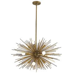 The Well Appointed House Arteriors Zanadoo Small Chandelier in Antique Brass Antique Brass Chandelier, Sputnik Chandelier, Modern Chandelier, Chandelier Lighting, Entry Lighting, Brass Lamp, Office Lighting, Bedroom Lighting, Casa Kaufmann